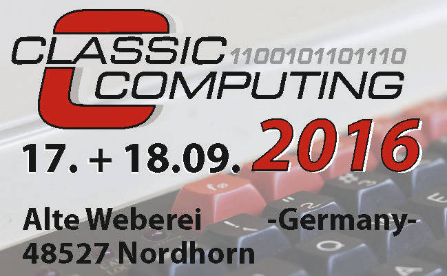 Classic Computing 2016 in Nordhorn vom 17.-18. September 2016